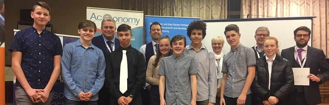 Roger Cole (far right) at Young Enterprise Dragons' Den (1)