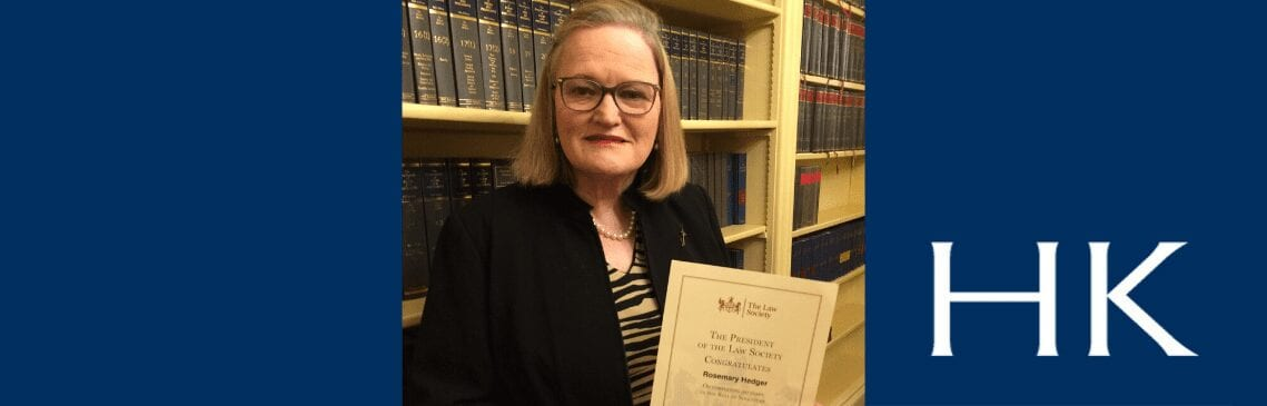 Felicity Hedger celebrates 50 years on roll of solicitors
